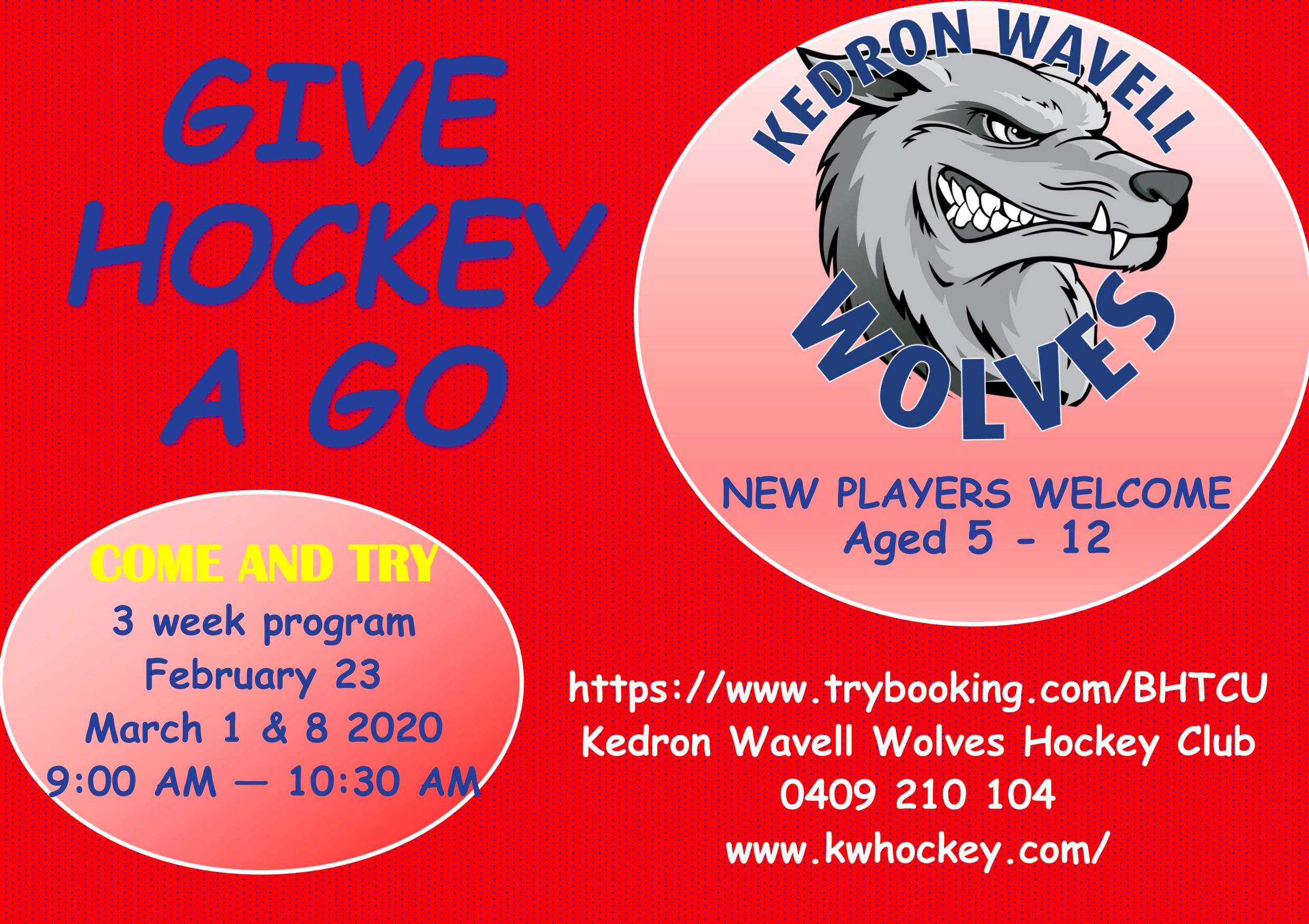 2020 Give Hockey A Go – 3 week Program